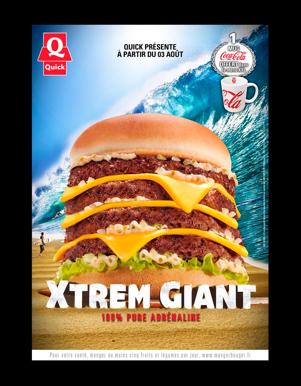 Affiche A3 Campagne Xtrem Giant Quick Nouvelle-Calédonie