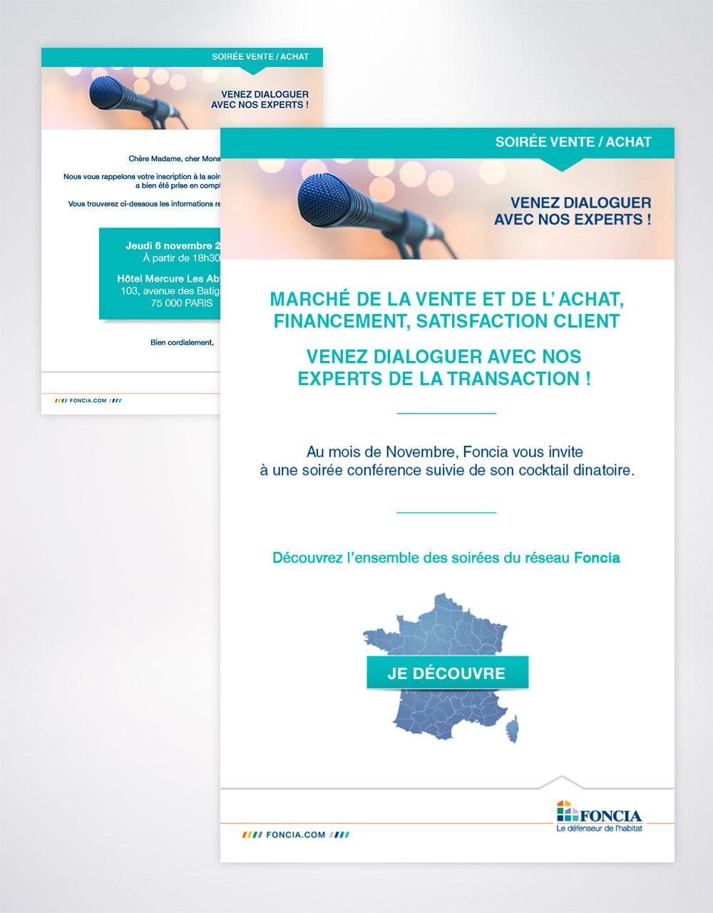 """Création et intégration email Foncia """"Soirée Vente/Achat"""""""