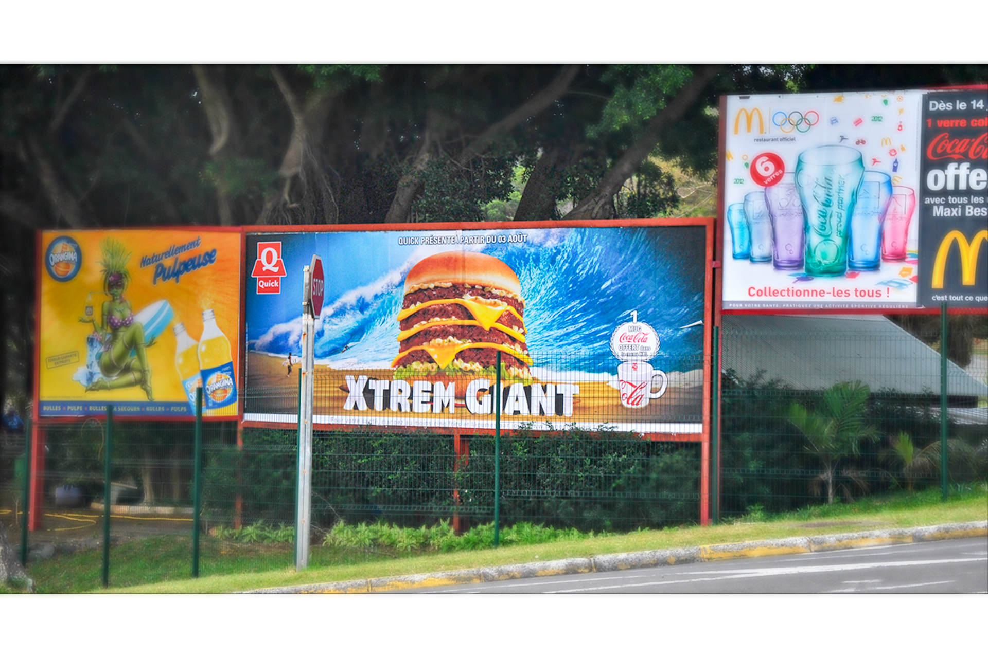 Affiche 8x3 Campagne Xtrem Giant Quick Nouvelle-Calédonie