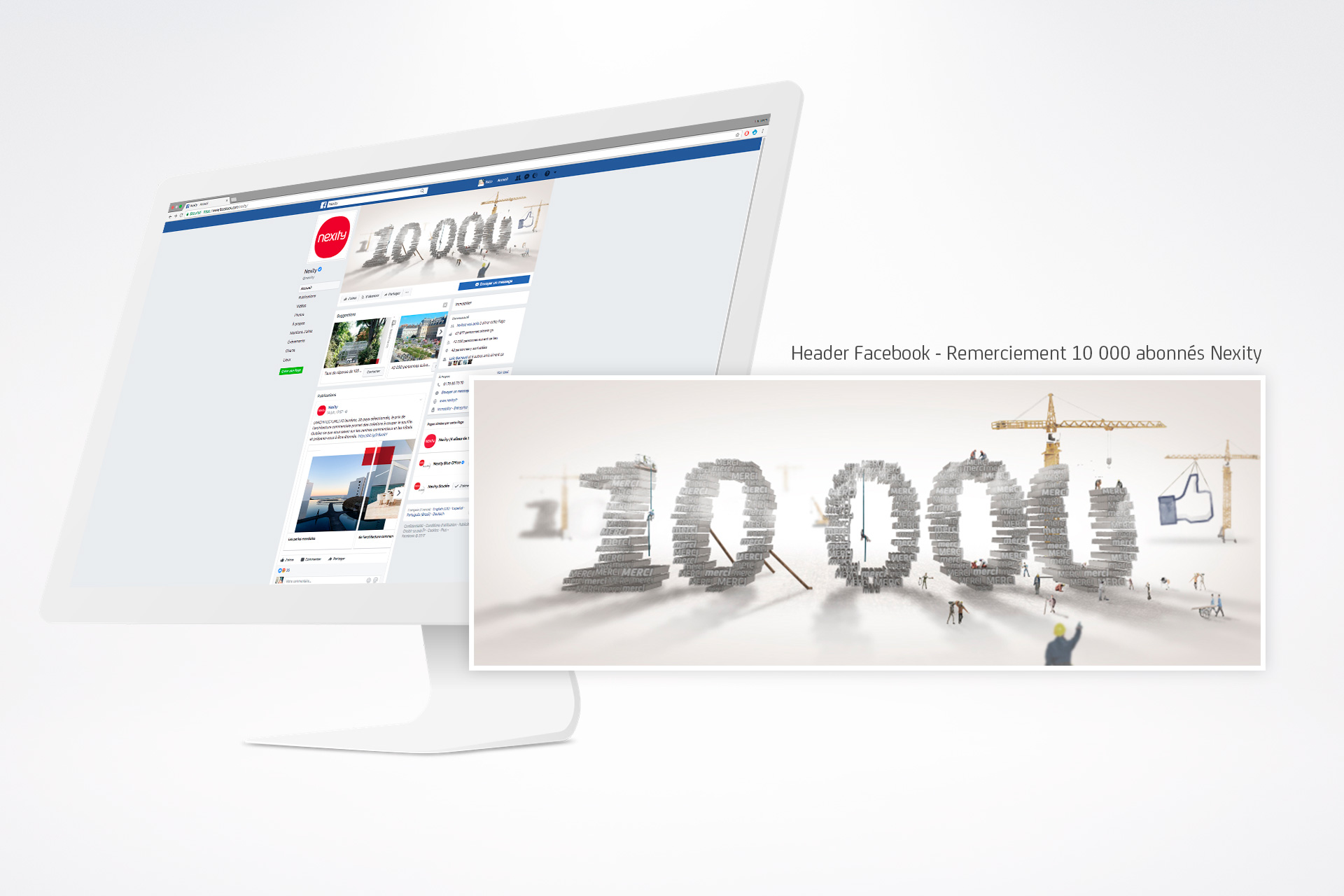 Header Facebook - Remerciement 10 000 abonnées Nexity